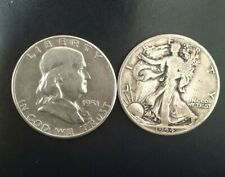 More details for two walking liberty silver half dollars 1951 and 1944
