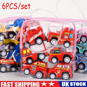 6PCS Toy Cars Gifts Pull Back and Go Vehicles for Baby Boys 1/2/3 Years Old NEW