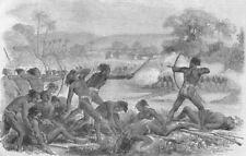 INDIA. Santal Rebellion. Attack on Sepoys, 40th Rgt native infantry, print, 1856