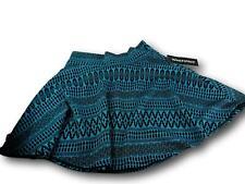 Wearever Skirt  Medium Geometric Design Blue/BlackA-Line