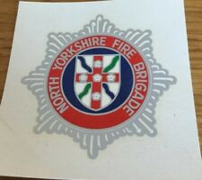 A  North Yorkshire Fire Brigade,Fireman helmet transfer badge.