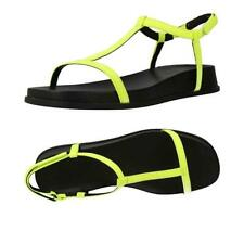 NEW Womens Camper Atonika T-strap Neon Yellow Leather Sandals