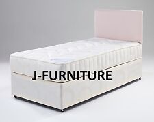 3ft Single Bed With Orthopedic Medium Firm Mattress 2 Drawers and Headboard