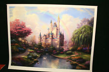 Thomas Kinkade New Day at Cinderellas Castle 30x40 Gallery Proof Paper UF