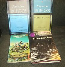 4 book lot jorge luis borges HB extraordinary tales casares collected fictions !