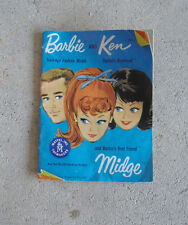 Vintage 1962 Booklet Mattel Barbie and Ken and Midge Clothes
