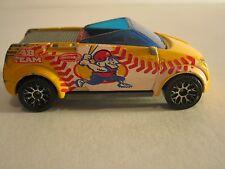 Matchbox 2002 Opel Frogster Yellow Baseball Car