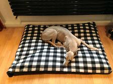 CosiPet® X Large Deluxe Waterproof Rhomboid Memory Foam Pad Dog Bed B&W CHECK