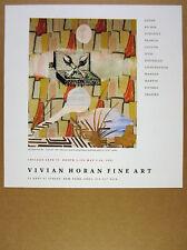 1991 Sigmar Polke 'Gemalde' painting art NYC gallery vintage print Ad