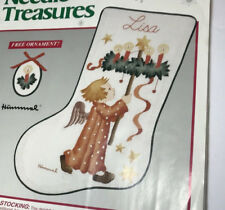 Crewel Stitchery Christmas Angel Stocking Kit Hummel 00864 Needle Treasures