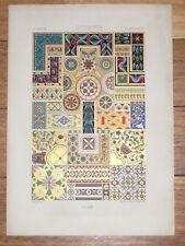 BYZANTIN Peintures Mosaique RACINET LITHOGRAPHIE Art Decoratif TURQUIE DECO 1870