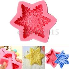 3D Snowflake Silicone Soap Mold Craft Molds DIY Handmade Soap Mould Cake Decor