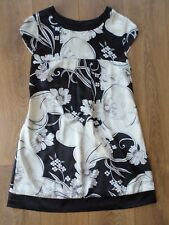 LIPSY BLACK AND IVORY SPARKLY TUNIC DRESS SIZE 12/14