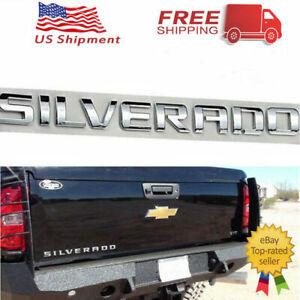 OEM Emblem Letter Chrome Set Kit for Chevy Silverado 1500 2500 HD 3500 US SHIP
