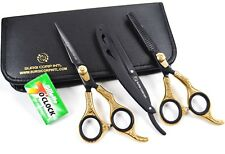 """6"""" Professional Hairdressing Scissors Barber Haircutting Shears Set with Razor"""