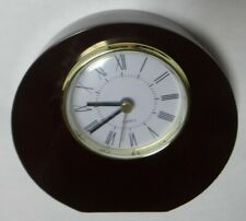 Creative Gifts 069426 5.5 X 5.75 X 1.5 In. Wood Round Disc Shaped Table Clock