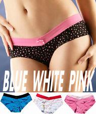 Size M L Sexy Cotton Lycra Polka Dot Low Rise Boy shorts Bikini Panties