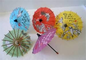 Set of 5 Japanese Hand-made Kasa Multi-Color Mini Umbrella Paper Parasol/K002