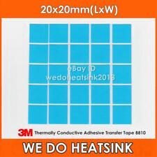 15pcs 3M 8810 20x20mm Blue Thermal Double Sided Adhesive Transfer Heatsink Pads