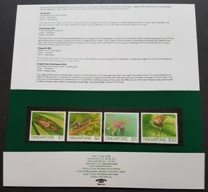 Singapore 1985 Insects Definitive 4v Stamps in Presentation Pack Mint NH (lot A)