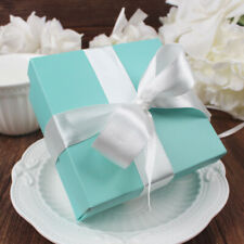50/100x Square Favour Gift Boxes Turquoise Candy Box with Lids Wedding Supply
