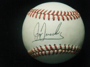 Jeff Treadway Atlanta Braves autographed NL Giamatti baseball