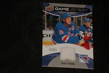 MARC STAAL 2012-13 UPPER DECK CERTIFIED GAME USED JERSEY CARD RANGERS