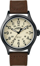 Timex Mens Expedition Watch T49963 Leather strap, Indiglo Night Light & Date