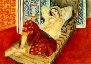 HENRI MATISSE ODALISQUE WITH RED PANTS REPRO Art Print A4 A3 A2 A1