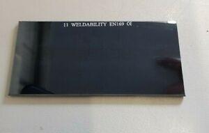 """Welding Lens/Lense - Helmet/Mask Glass Filter 4 1/4"""" x 2"""" - Shades - Pack 10"""