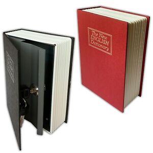 Büchersafe mit Schlüssel Buchattrappe Tresor Safe Buch Geheimversteck Buchtresor