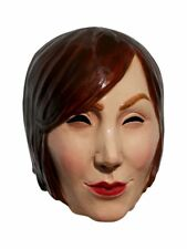 Manikin Adult Latex Mask Creepy Mannequin Head Woman Face Female Model Accessory