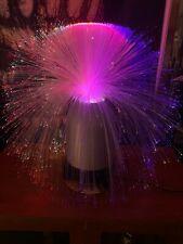 Fiber optics spray lamp - Vintage - Color change/rotating. NOS Original box!