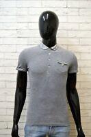 GAUDI Maglia Uomo Polo Grigia Taglia XS Shirt Man Manica Corta Jersey Cotone