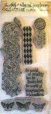 """Rubber Stamp Set NIP Stampers Anonymous by Tim Holtz """"Boundless Flight"""""""