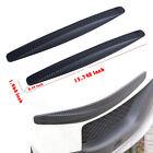Carbon Fiber Pattern Car Bumper Anti-stratch Strip Corner Guard Sticker Parts 2x