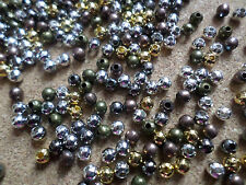 100 x Iron Spacer Beads - Round - 4mm - Mixed Colour