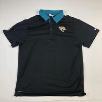 Nike On Field Apparel Jacksonville Jaguars Polo Shirt Adult XL Black Dri-Fit NFL
