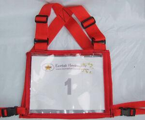 Ecotak Cross Country/Endurance Back Number Holder - Red Ecotak