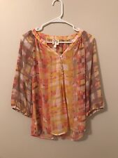Anthropologie Fig And Flower Top Orange Size Small
