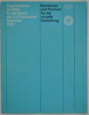 """Olympische Spiele 1972 München """"Richtlinien visuelle Gestaltung Waldi"""" Aicher"""