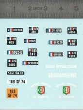 Décalcomanie - Gendarmerie  Plaques - Ech 1:43