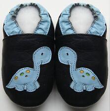 soft sole baby leather shoes dino navy 12-18 m minishoezoo  free shipping