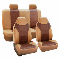 Faux Leather Car Seat Covers Tan Brown Top Quality For Car SUV Truck