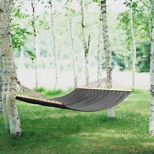 [casa.pro]® XXL Mehrpersonen Hängematte 200kg Grau Hängeliege Camping Outdoor