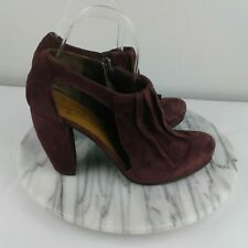 Coclico Anthropologie Coleridge Womens Size 7/37.5 Dark Purple Leather Booties
