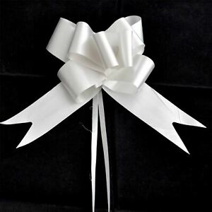 50mm Large 5 Pull Bow Silver Ribbons Wedding Floristry Car Gift Decorations