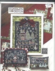 Hands On Design - Holly Jolly Farm Cross Stitch Pattern