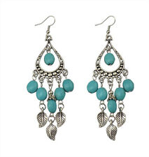 Boho Folk Style Turquoise Dangle Ear Stud Earrings Charm Lady Party Jewelry