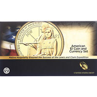 2014 D Enhanced Native American & 2013 $1 Note Coin & Currency Set
